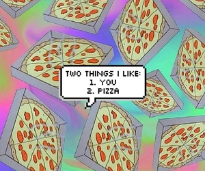 pizza, you, and grunge image