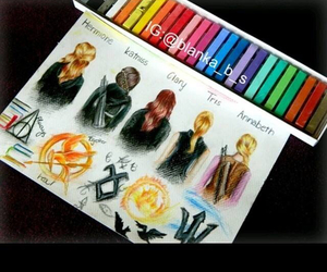 harry potter, clary, and tris image