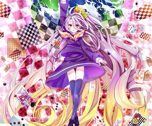 shiro, anime, and no game no life image