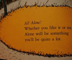 alone, sad, and book image