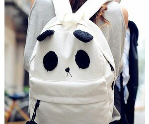 panda, bag, and backpack image