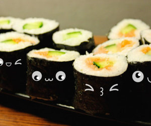 sushi, food, and cute image