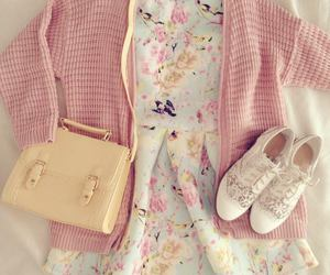 outfit, pink, and dress image