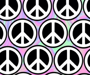 peace, wallpaper, and hippie image
