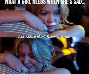 cry, hold, and girl image