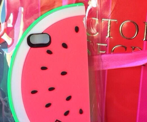 pink, watermelon, and case image