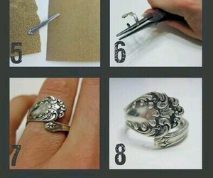diy, ring, and spoon image