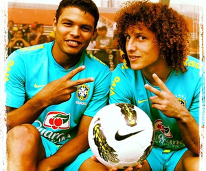 david luiz, thiago silva, and soccer image