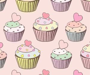 cupcake, wallpaper, and pink image