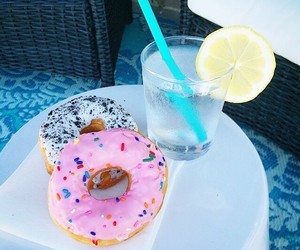 donuts, drink, and food image