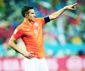 manchester united, robin van persie, and world cup image