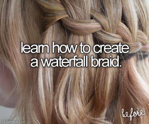 bucket list and waterfall braid image