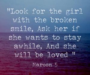 loved, Lyrics, and maroon 5 image