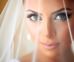 makeup, beauty, and wedding image