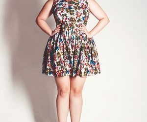plus size, dress, and cute image