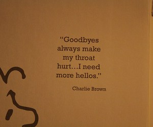 charlie brown, goodbye, and quote image
