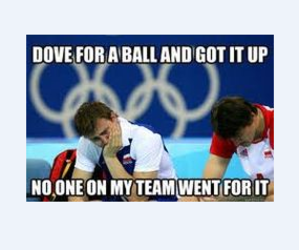 funny, true, and volleyball image