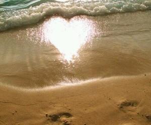 beach, heart, and romantic image