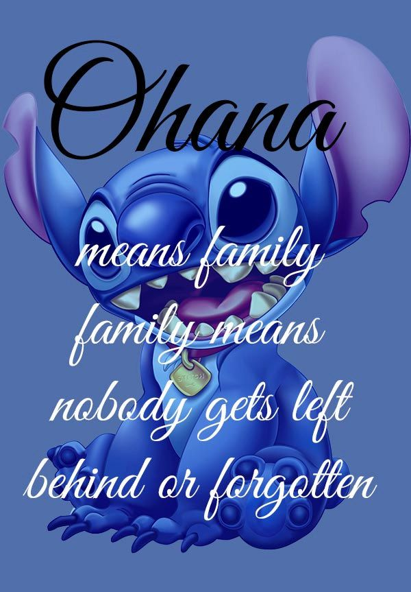 Ohana Means Family Lilo And Stitch Disney Art