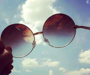 glasses, heavy, and sky image