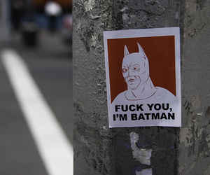 awesome, batman, and fuck image