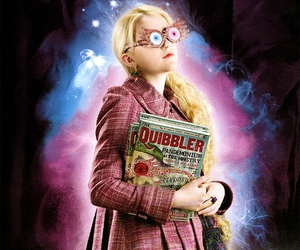 luna lovegood, evanna lynch, and harry potter image