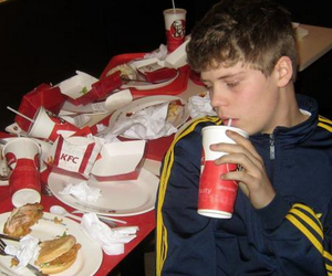 yung lean, KFC, and sad image