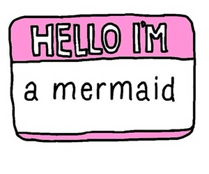 mermaid, hello, and pink image