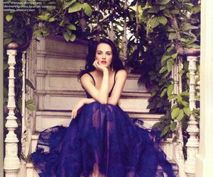 dress, beauty, and blue image