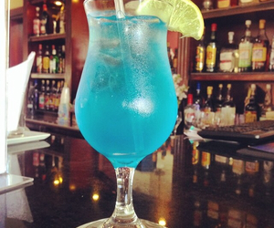 bar, blue, and delicious image