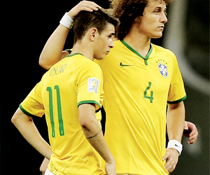 oscar, david luiz, and brazil image