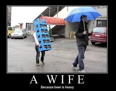 funny, beer, and wife image
