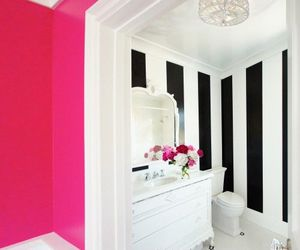 pink, bathroom, and white image