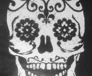 art, calavera, and old image