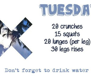 workout, fitness, and tuesday image