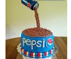 cake, Pepsi, and yummy image