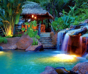 nature, paradise, and water image