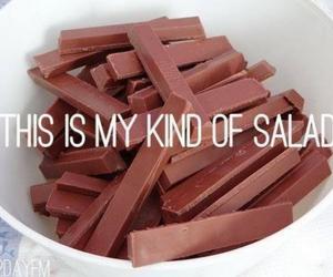 chocolate, salad, and food image