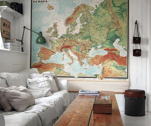 map, room, and europe image