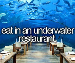 eat, restaurant, and underwater image