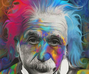 art, colors, and einstein image