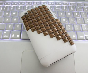 iphone, studs, and apple image
