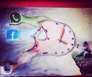 time, facebook, and instagram image