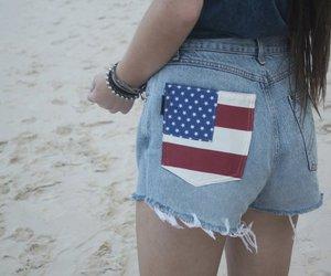america, clothing, and shorts image