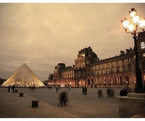 france, paris, and louvre image