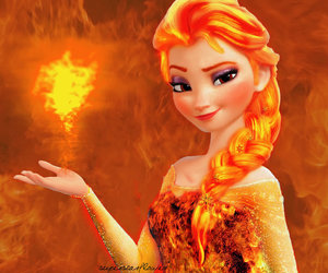 fire, frozen, and elsa image