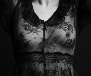black, black and white, and lace image