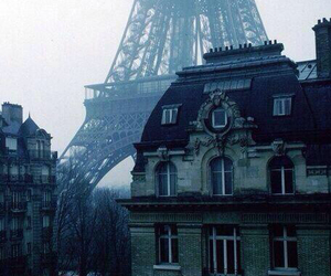 france, grey sky, and paris image