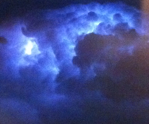 airplane, thunder, and blue image