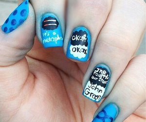 nails, the fault in our stars, and blue image